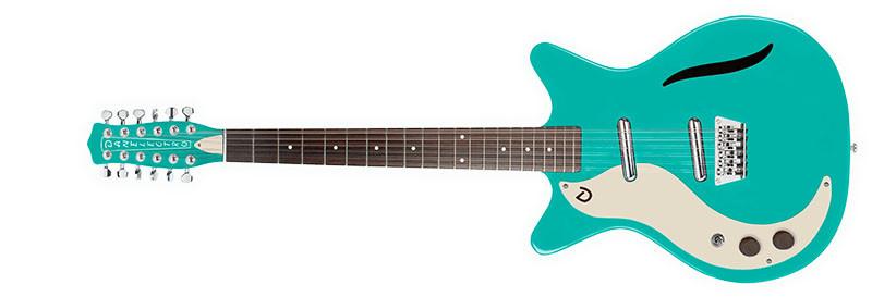 Left handed Danelectro guitars - A Dark Aqua Vintage 12-String