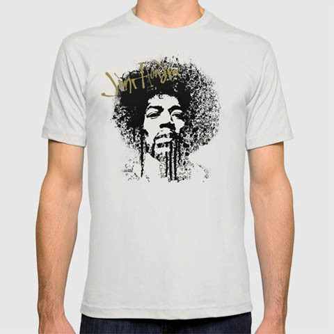 Left handed guitar shirts - Jimi Hendrix - Ink