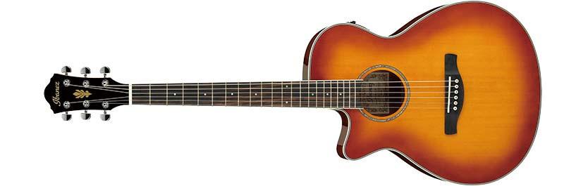 Left handed Ibanez AEG18LII acoustic guitar