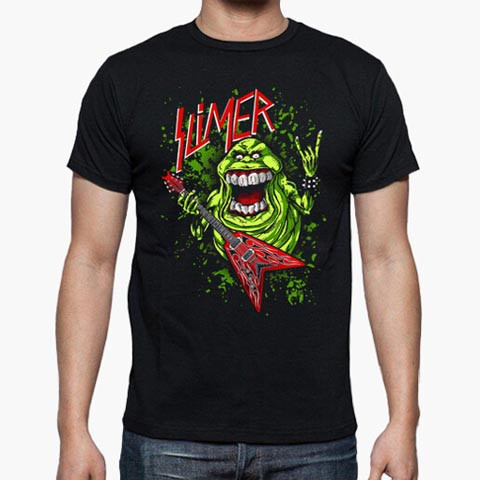Left handed guitar shirts - Slimer Rocker