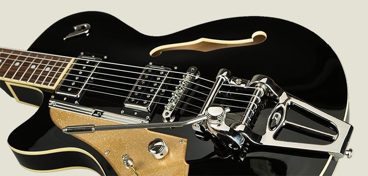Left Handed Duesenberg Guitars - Starplayer TV in Black finish