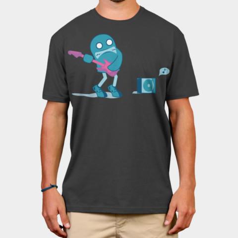 Left handed guitar shirts - Monster Bass