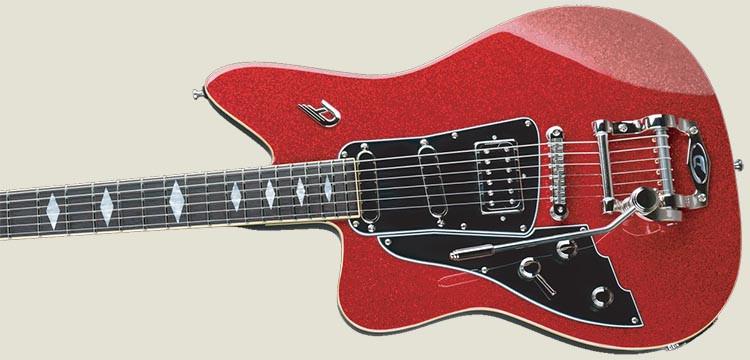 Left Handed Duesenberg Guitars - Paloma in Red Sparkle finish