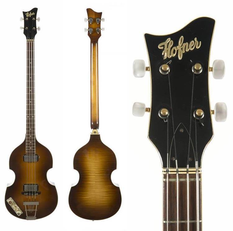 Paul McCartney's Left Handed Presentation Hofner Bass