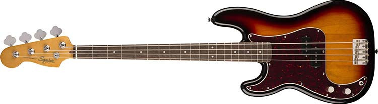 Left Handed Squier Guitars - Classic Vibe '60s Precision Bass