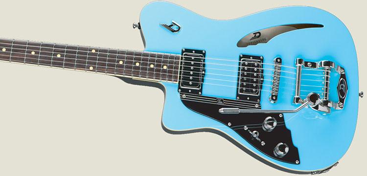 Left Handed Duesenberg Guitars - Caribou in Narvik Blue finish