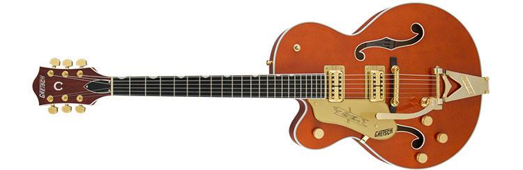Left Handed Gretsch Guitars - G6120TLH Players Edition Nashville - Orange Stain