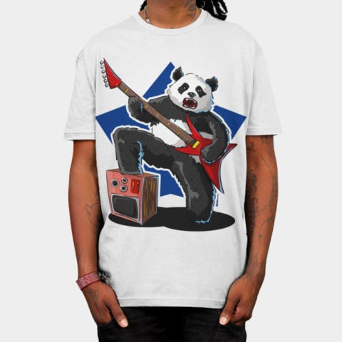 Left handed guitar shirts - Rock Panda