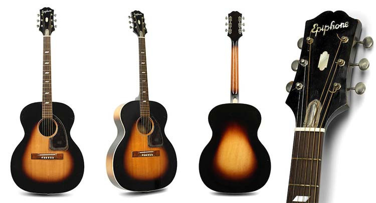 Jimi Hendrix' 1951 Epiphone FT 79 Acoustic Guitar