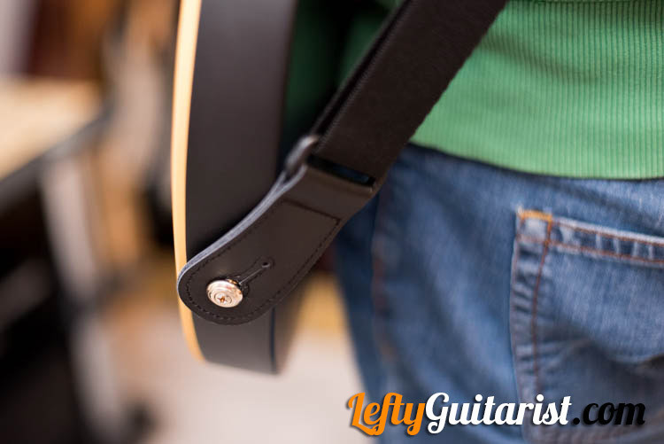 KLIQ AirCell Guitar Strap attached to Guitar