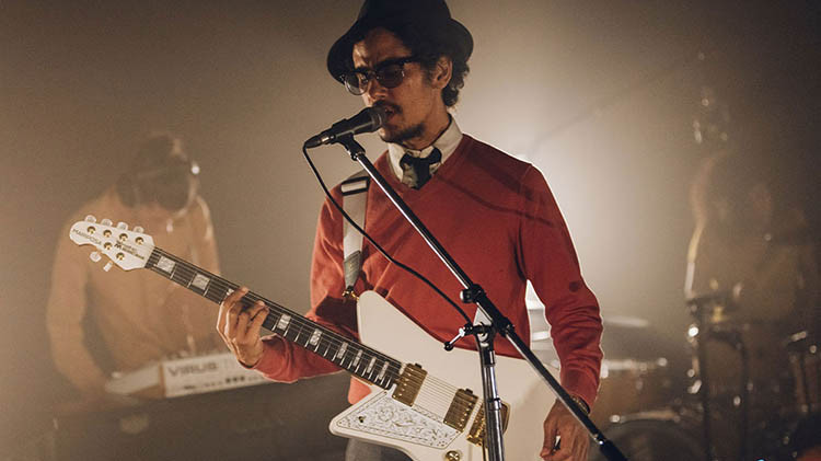 Left Handed Music Man Guitars - Omar Rodríguez-López playing a Mariposa