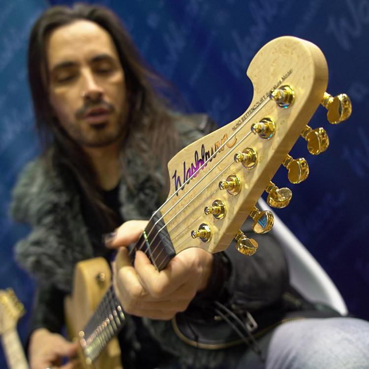 Nuno Bettencourt playing a Washburn Nele Deluxe guitar
