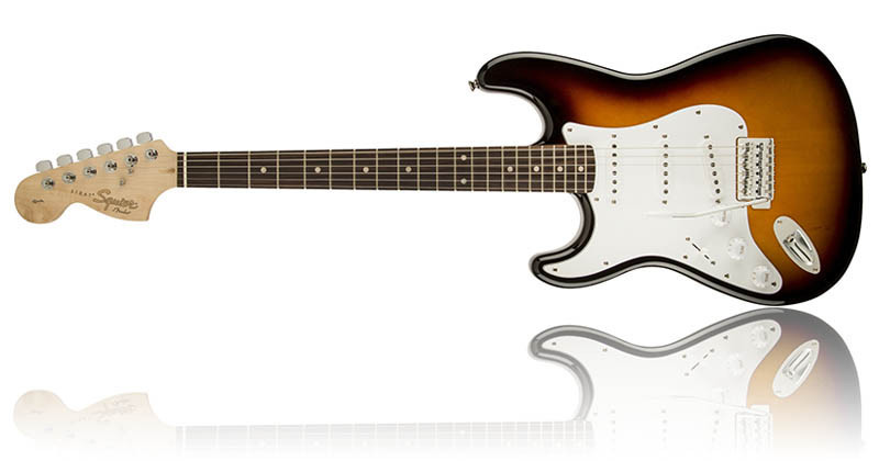 Left Handed Guitars For Beginners - Squier Affinity Stratocaster