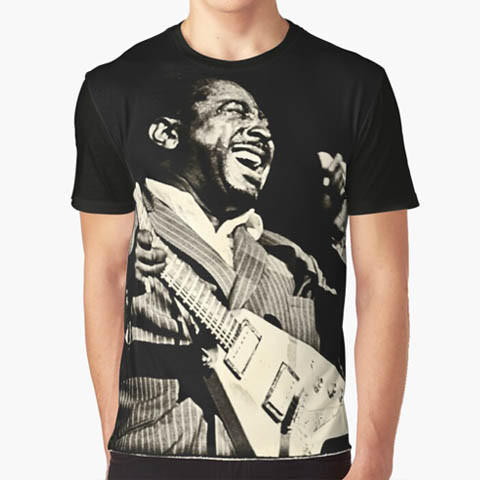 Left handed guitar shirts - Albert King - Blues Power