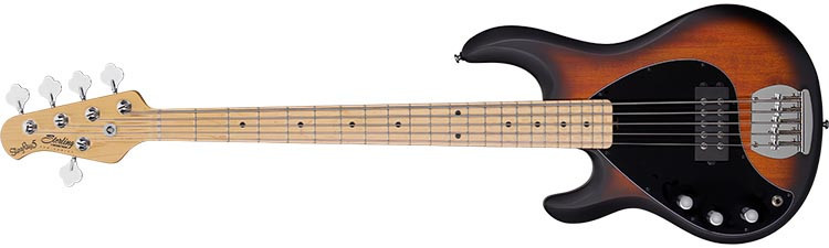 Left Handed Sterling Guitars and Basses - StingRay Ray 5