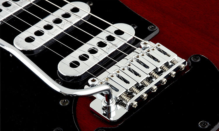 Left Handed Brian May Guitars - BMG Special - Close-up of bridge and pickups