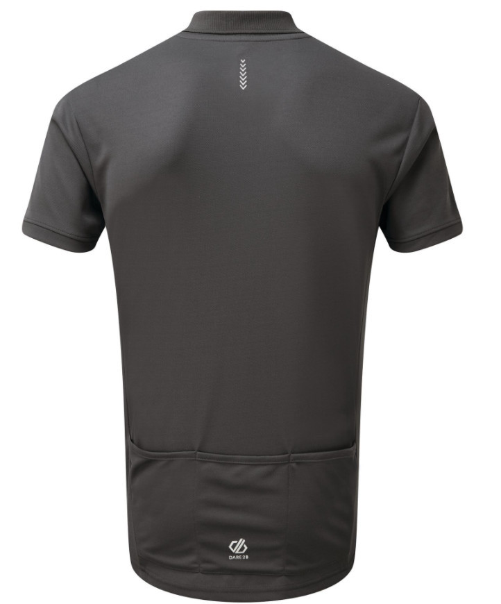 Workout tops for men - Men's Delineate Lightweight Polo Shirt Ebony Grey