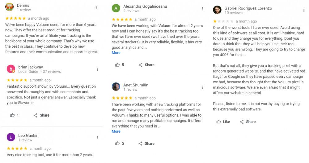 voluum customer reviews google