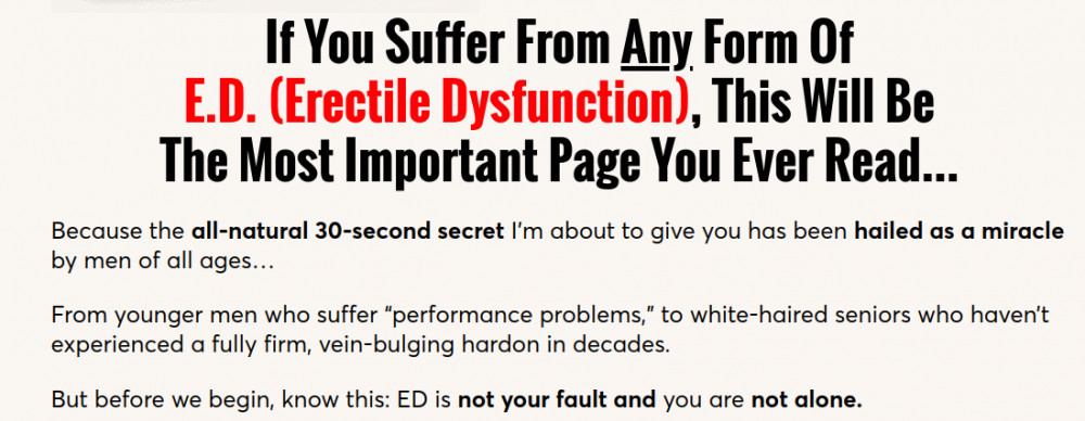 If you suffer from E.D