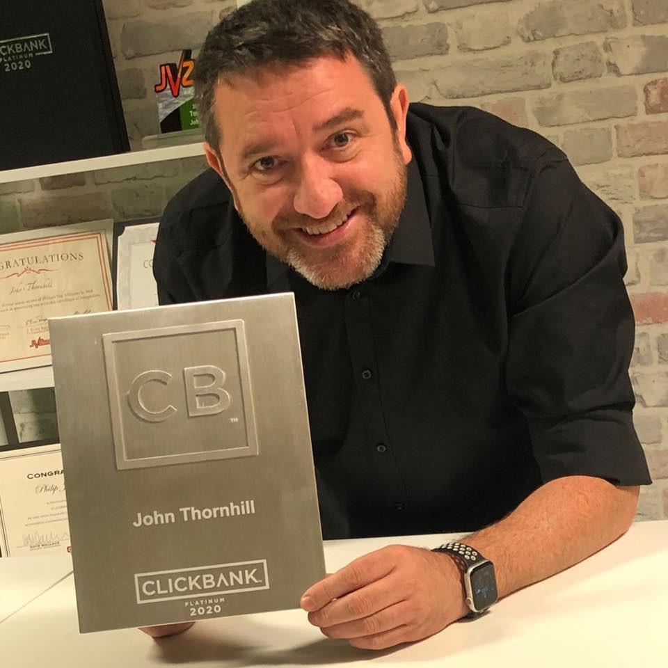 who is john thornhill top clickbank vendor 2020