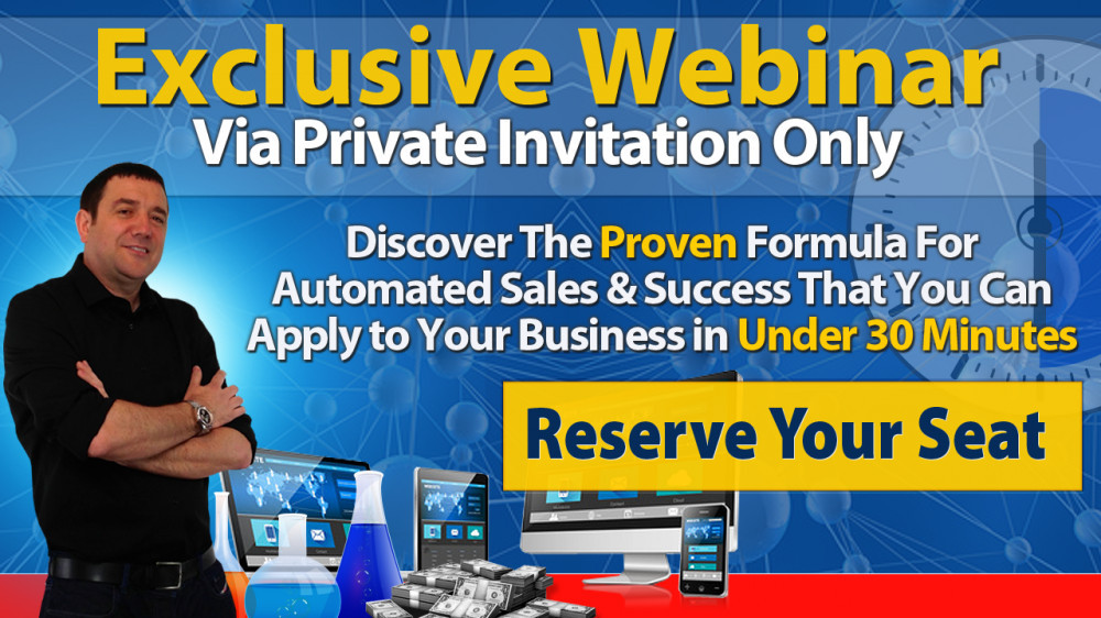 Exclusive Webinar John Thornhill 30 Minutes to Success Click Here to reserve your seat