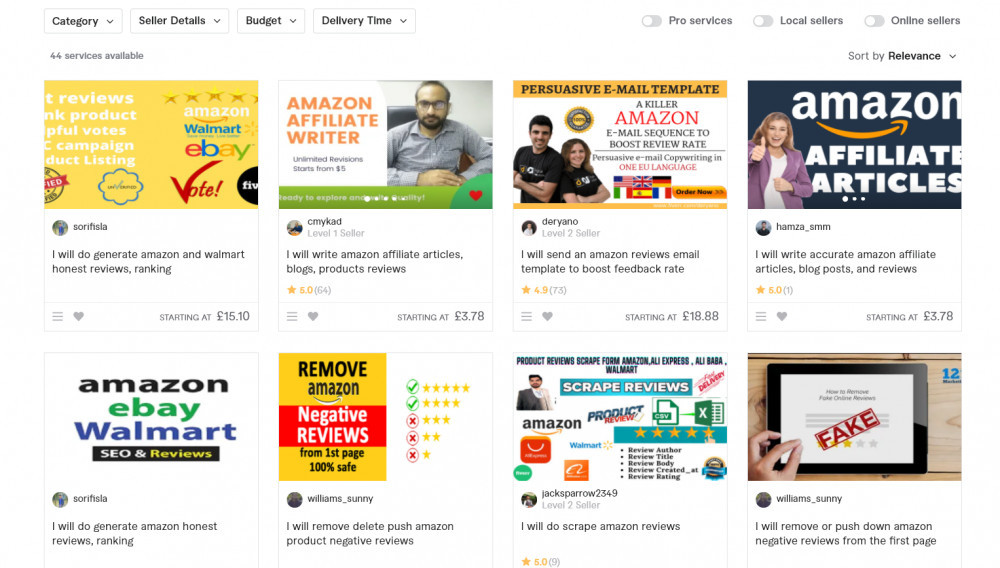 Fake Amazon Reviews For Sale On Fiverr