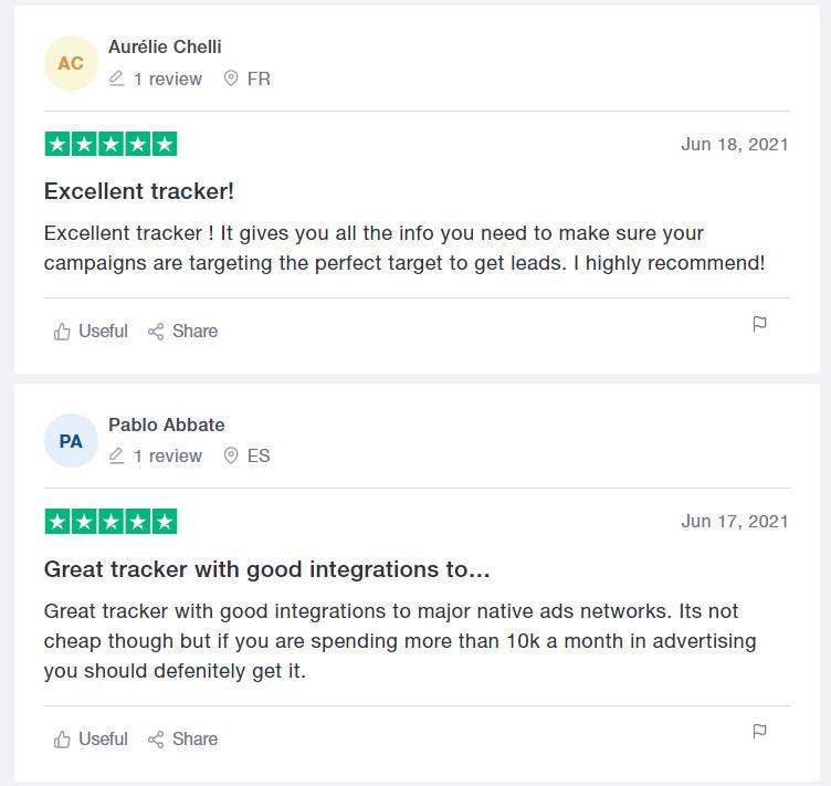 Voluum Customer Reviews Trustpilot 1