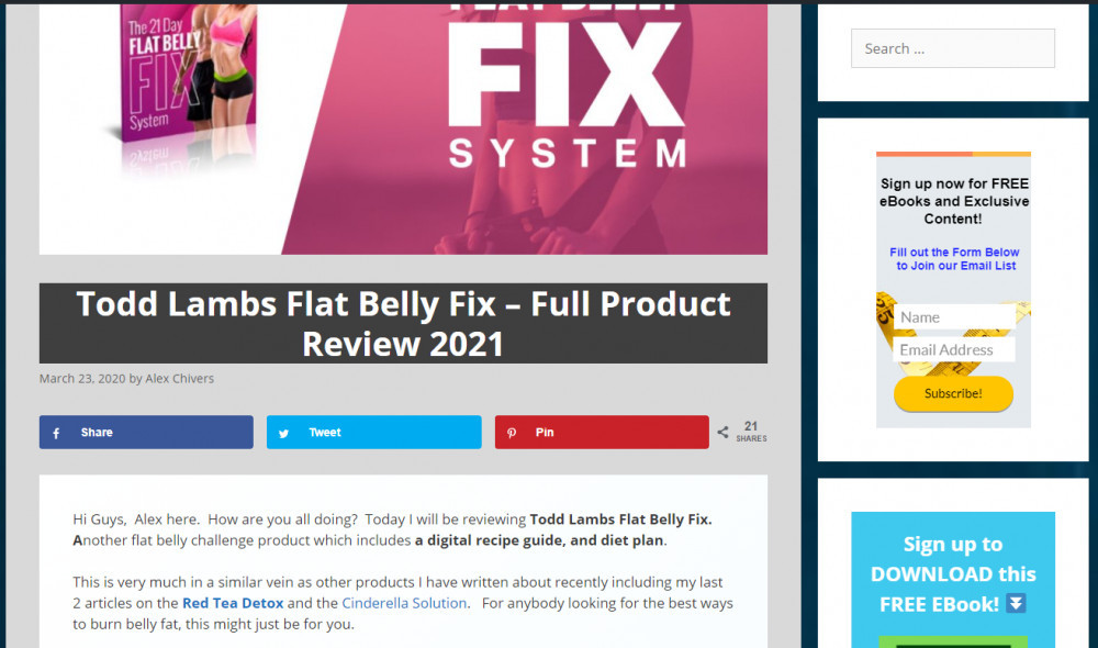 flat belly fix tea