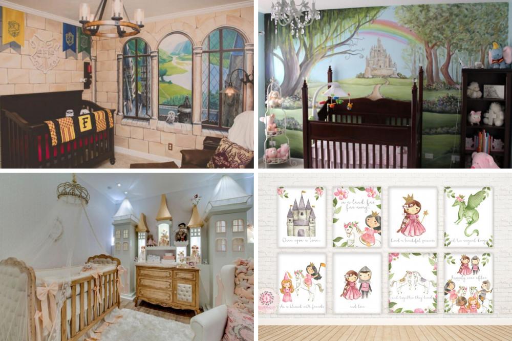 Castle Baby Girl Nursery - Four Themes