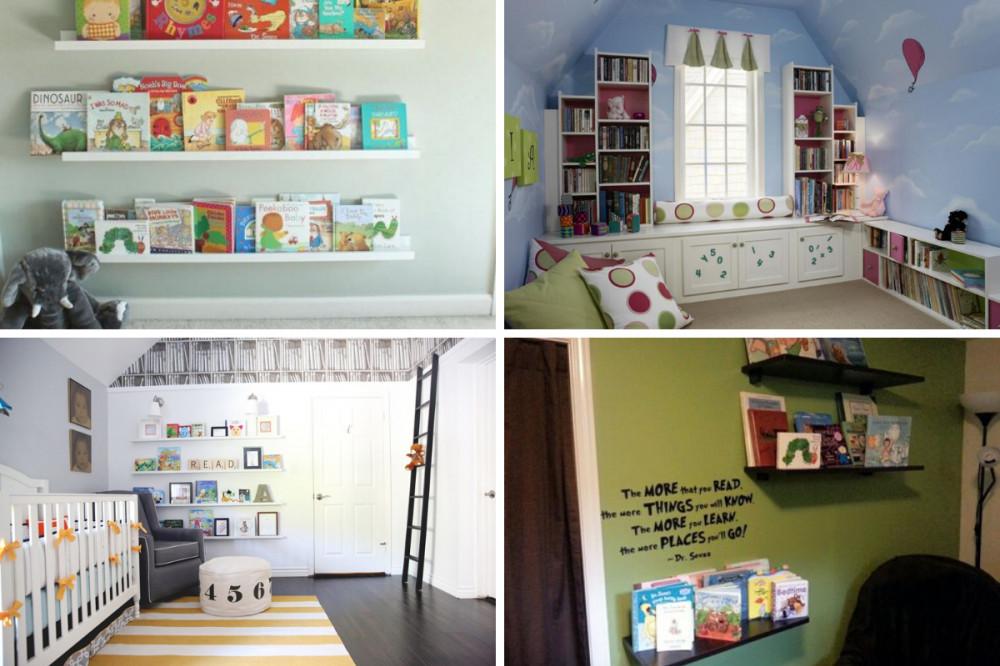 Library Baby Girl Nursery - Four Themes