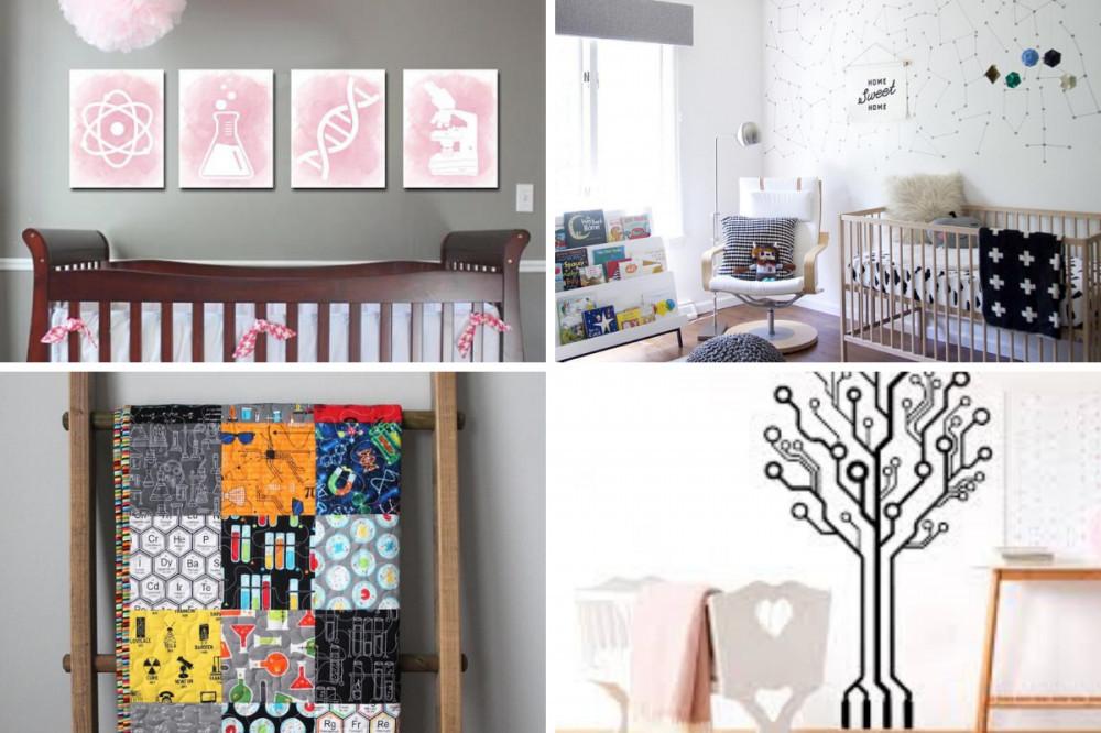 Science Baby Girl Nursery - Four Themes