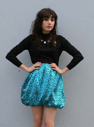 women with bubble skirt