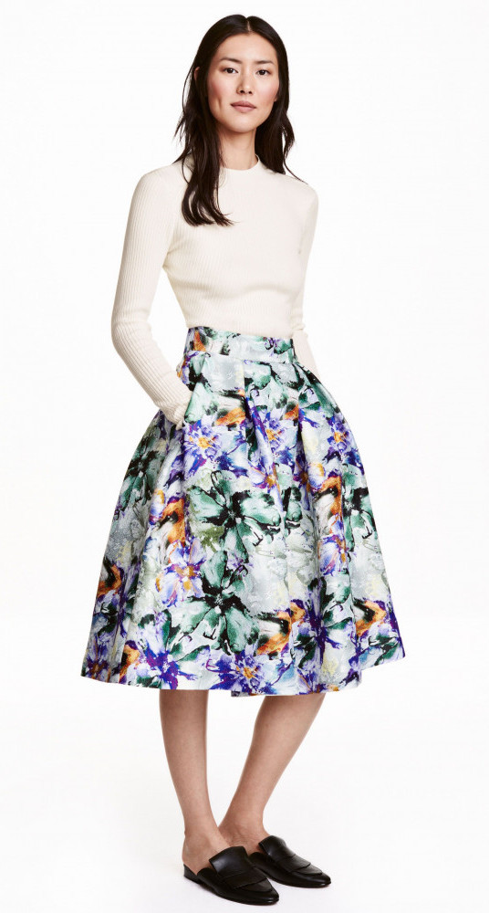 floral bell shaped skirt