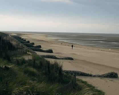 dog friendly beaches in Norfolk - Old Hunstanton Beach