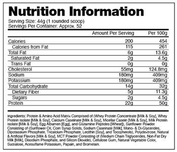 BSN Syntha 6 protein powder ingredients