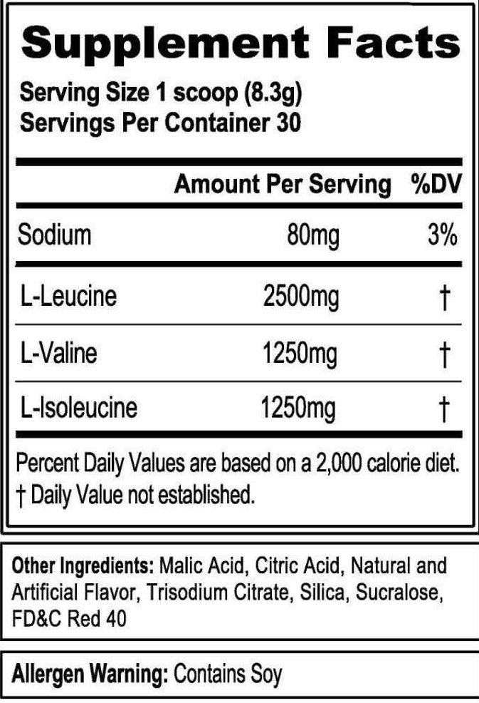 EVLUTION NUTRITION BCAA 5000 INGREDIENTS