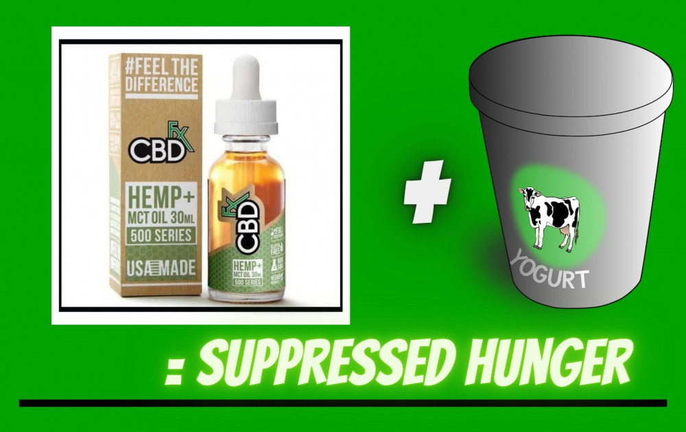CBD + Yogurt = suppressed hunger