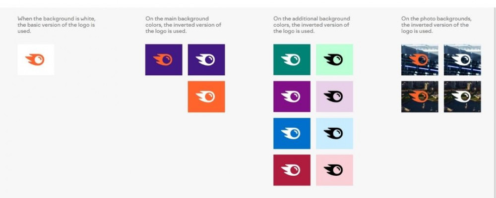 SEMrush Logo uses