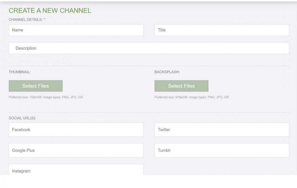 Rumble Channel Registration