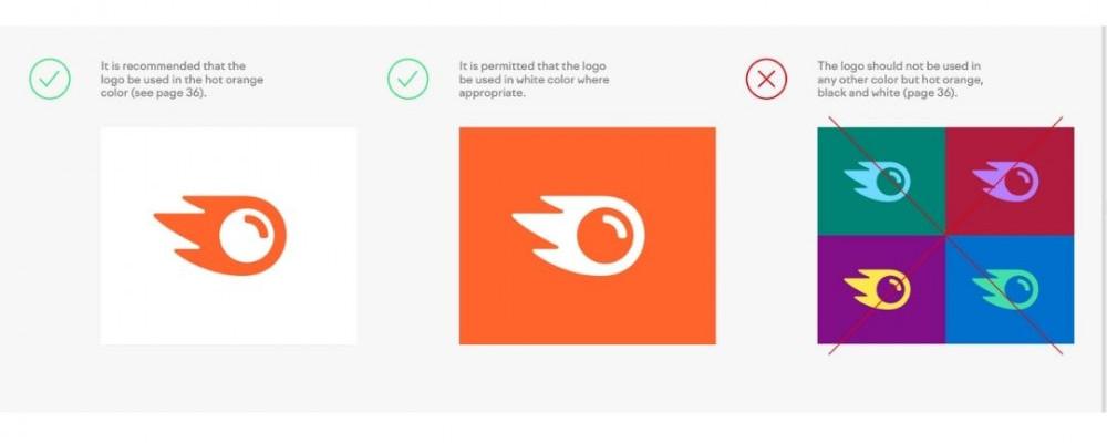 SEMrush hot orange logo