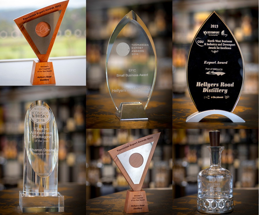 The Hellyers Road Distillery - Some Awards