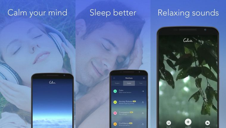 Calm - Help to reduce stress, sleep better, relaxing meditation app