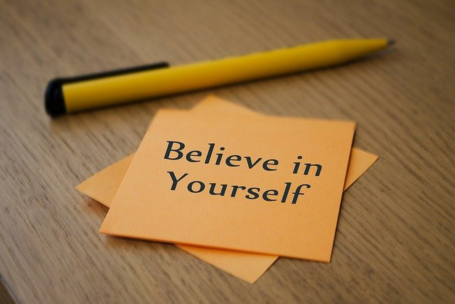 Positive attitude - believe in yourself - be friends with stress