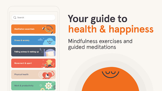 Headspace - Mindfulness exercise and guided meditation app