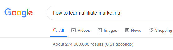Image-of-a-google-search-showing-results-for-how-to-learn-affiliate-marketing