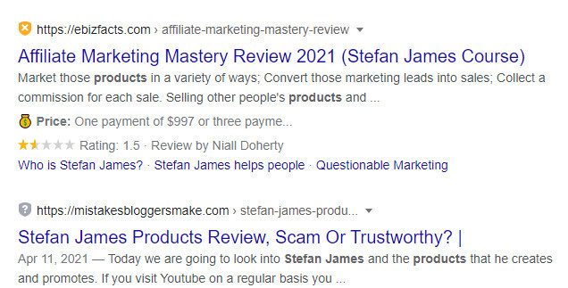 stephan James Product Reviews Google page 1