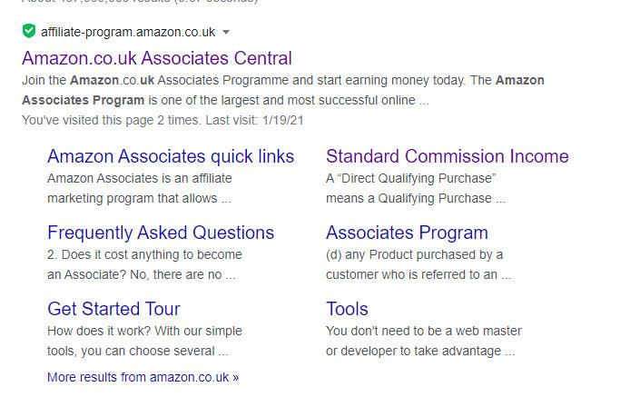 Amazon-Affiliate-Google-Search
