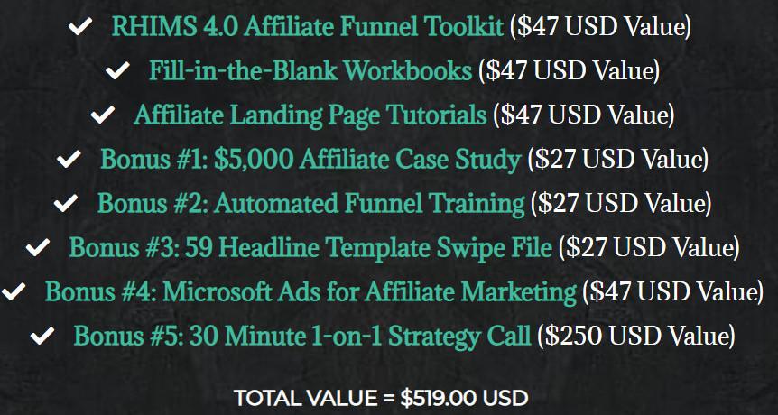 RHIMS 4.0-Bonuses