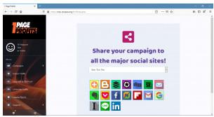 1 page profits social media sharing options