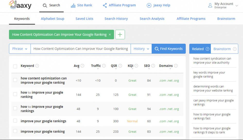 Jaxxy-review-keyword-search